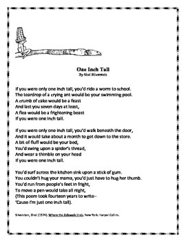 """Exploring Point of View Through Poetry: """"One Inch Tall"""" by"""