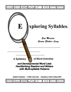 Exploring Syllables - Multisyllabic Word Sort Book and Tea