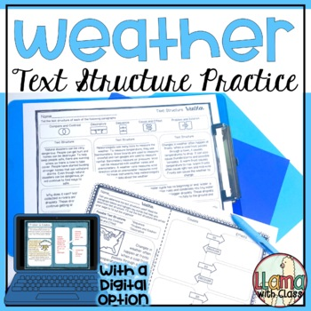 Exploring Text Structure with Weather