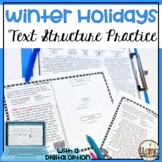 Exploring Text Structure with Winter Holidays