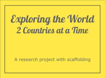 Exploring the World Research Project