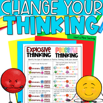 Explosive or Peaceful Thinking, SEL lesson, changing anger