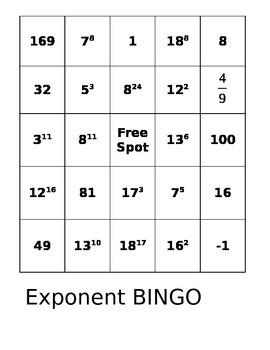 Exponent BINGO