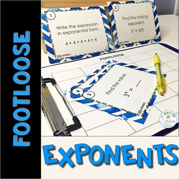 Exponent Task Cards - Footloose Activity