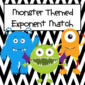 Exponent Match Monster Themed