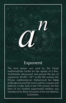 Exponent - Math Poster