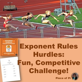 Exponent Hurdles Math 8.EE.1 Practice Exponent Rules Algeb