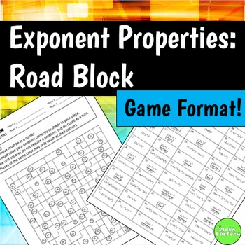 Exponent Properties Road Block Game