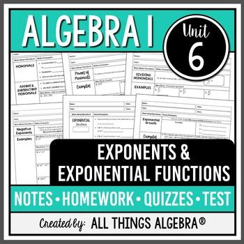 Exponent Rules (Algebra 1)