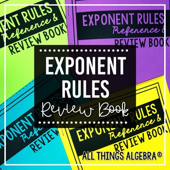 Exponent Rules Review Book
