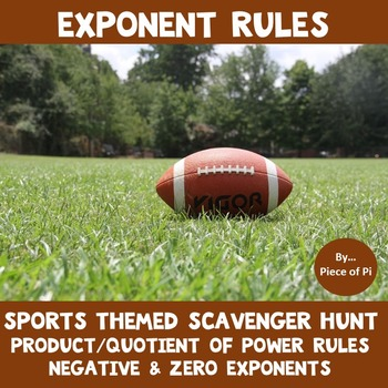 Exponent Rules Scavenger Hunt Negative Zero Exponents Prod