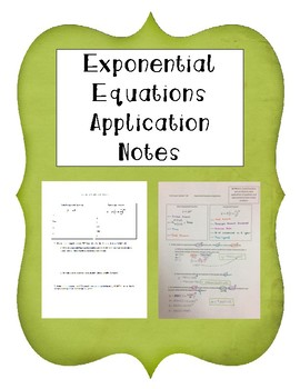 Exponential Equation Application Notes