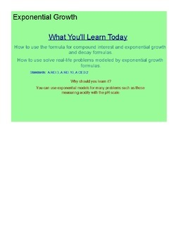 Exponential Equations SmartBoard Lesson