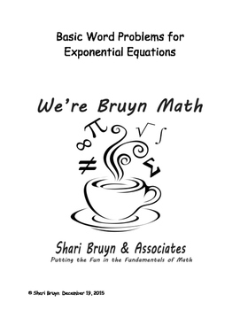 Exponential Equations - Word Problems