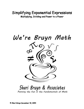 Exponential Expressions - Simplify