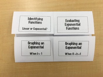 Exponential Function Foldable