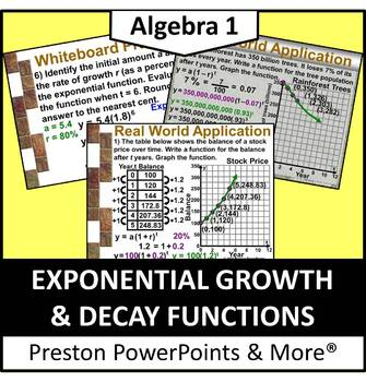 (Alg 1) Exponential Growth & Decay Functions in a PowerPoi