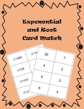Exponential and Root Flash Cards