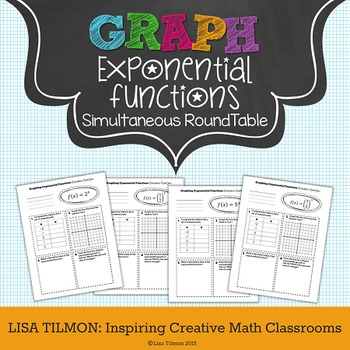 Exponential Functions Graphing Simultaneous RoundTable