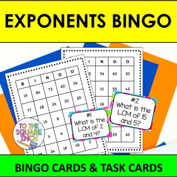 Exponents Bingo and Task Cards