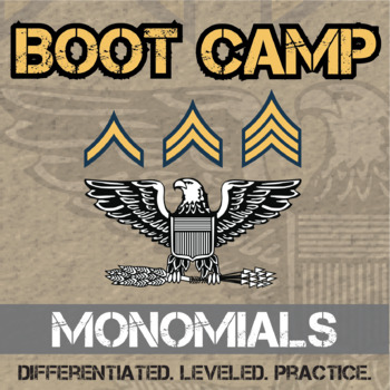 Exponents Boot Camp -- Differentiated Practice Assignments