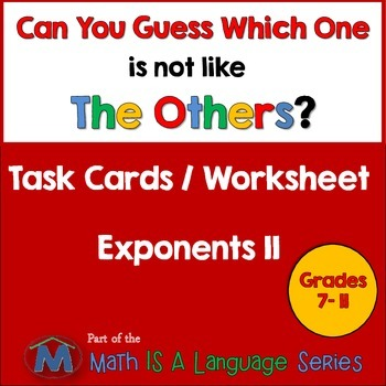Exponents II - Can you guess which one? - print version
