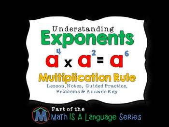 Exponents - Multiplication Rule