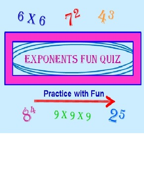 Exponents Powerpoint Fun Quiz PREVIEW