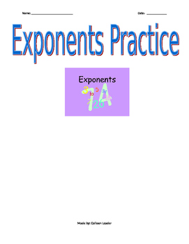 Exponents Practice
