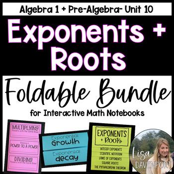 Exponents & Roots (Foldable Bundle)