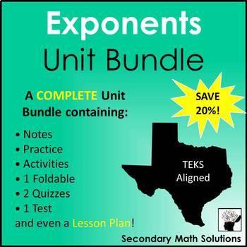 Exponents (Complete Unit Bundle)