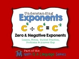 Exponents - Zero & Negative Exponents
