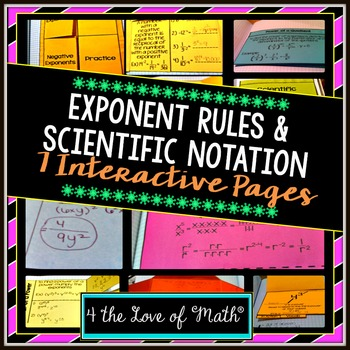 Exponents and Scientific Notation Interactive Notebook Pages