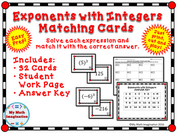 Exponents with Integers