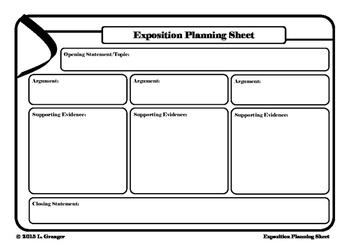 Exposition Planning Sheet Landscape
