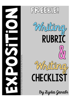 Exposition Writing Rubric & Checklist