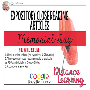 Expository Article - The History of Memorial Day {Google D