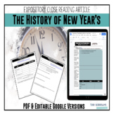 Expository Article - The History of New Year's {Google Dig