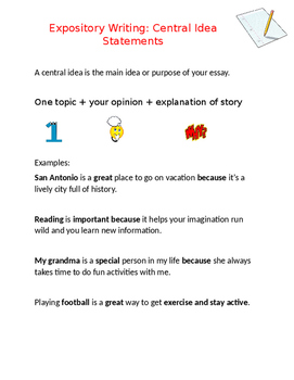 Expository Central Ideas