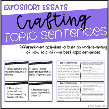 Crafting Topic Sentences for Expository Essays