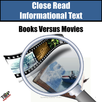 """Non-Fiction Close Reading """"Books vs. Movies"""""""