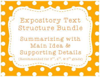 Expository/Nonfiction Text Bundle! {Summarizing w/ Main Id