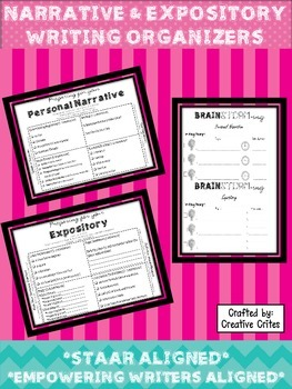 Expository & Personal Narrative Writing Graphic Organizers
