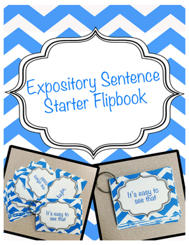 Expository Sentence Starter Transition Cards Flipbook
