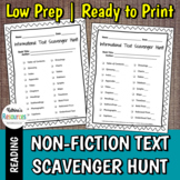 Expository Text Scavenger Hunt