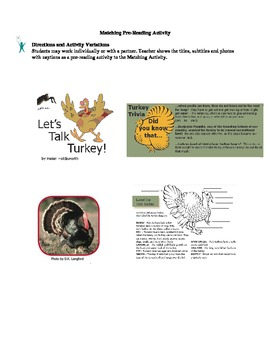 Expository Text and Comprehension Activities: Let's Talk Turkey