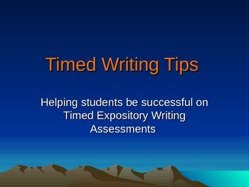 Expository Timed Write Power Point