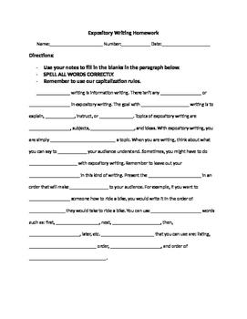 Expository Writing Homework