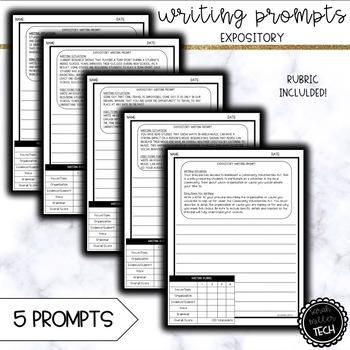 Expository Writing Prompts (6 Prompts)