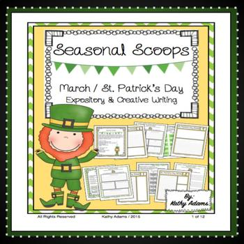 Expository Writing Prompts St. Patrick's Day